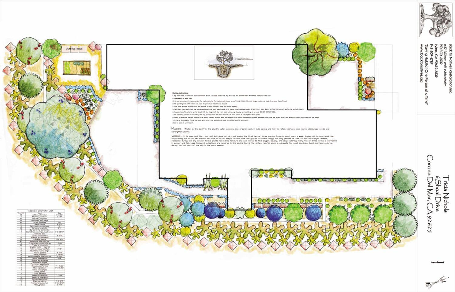 Landscape design services deposit back to natives for Landscape design services