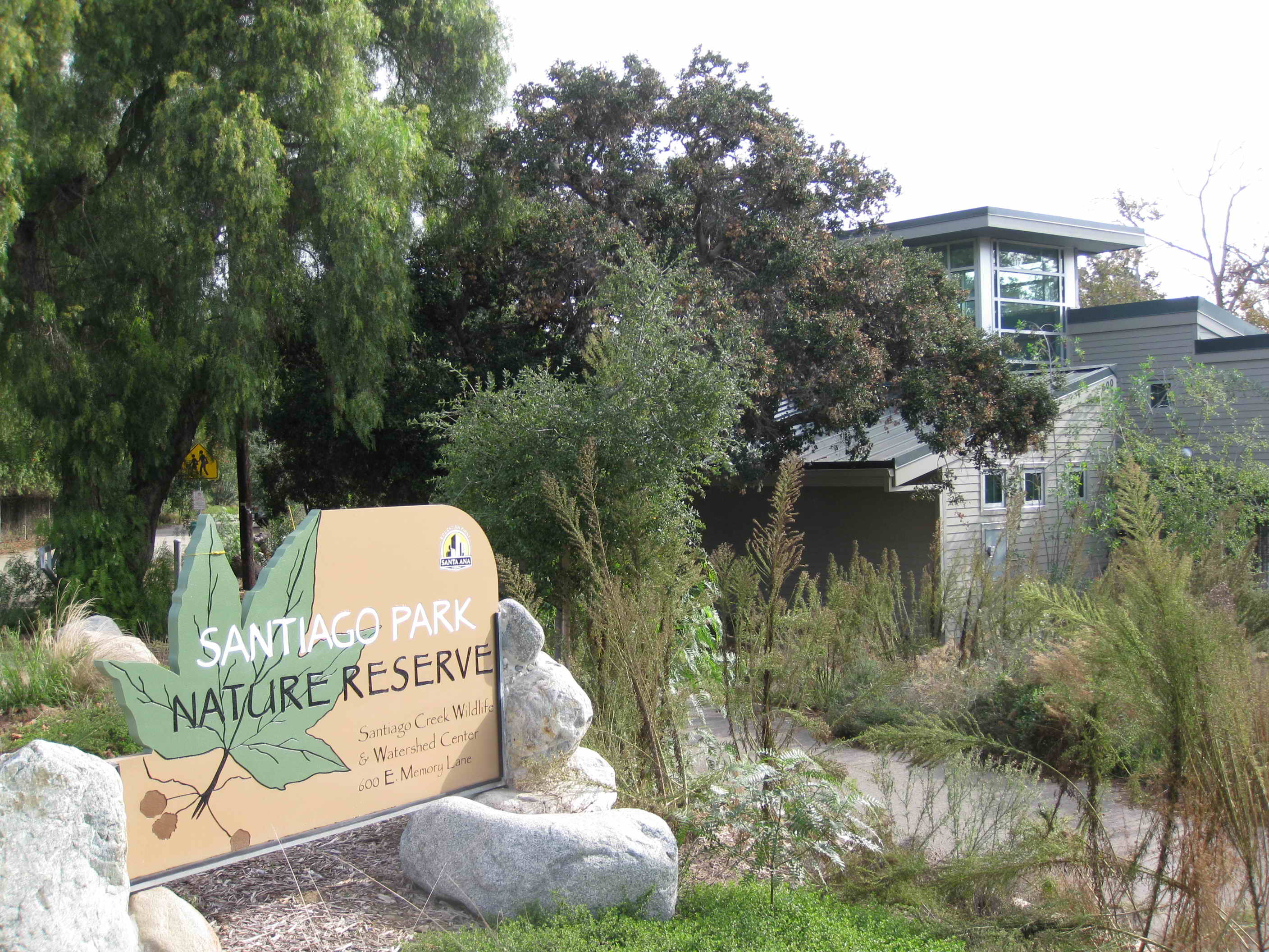 Santiago Park Nature Reserve Sign