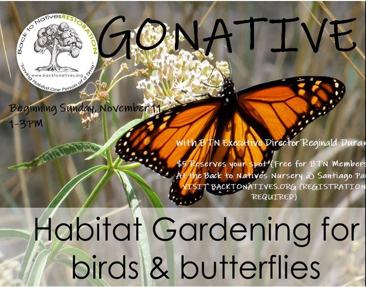 Go Native: Habitat Gardening for Birds and Butterflies